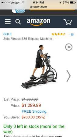 e35 sole elliptical amazon