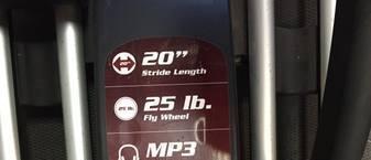 sole e35 elliptical stride length and fly wheel