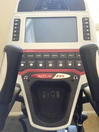 sole e95 elliptical console
